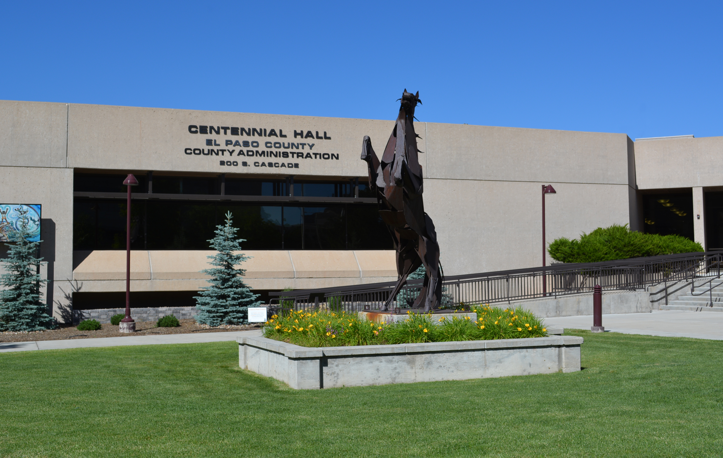Centennial Hall with Rearing Horse June 2017
