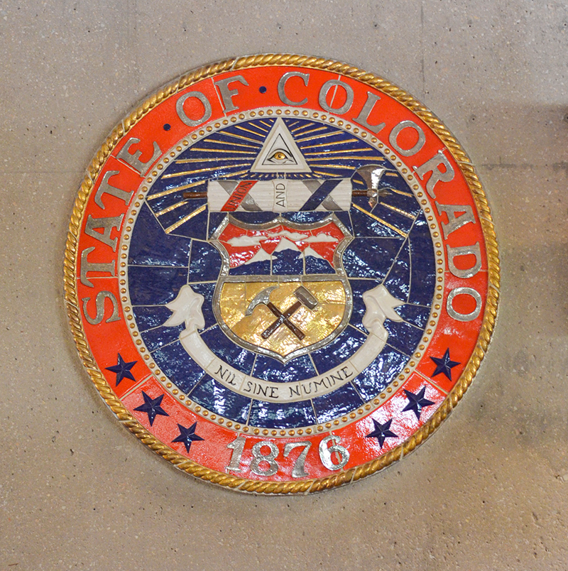 CO state seal Cent Hall Auditorium