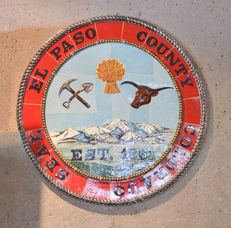 El Paso County seal Cent Hall Auditorium