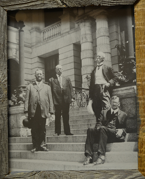 County Commissioners and Don Stratton Court House 1906
