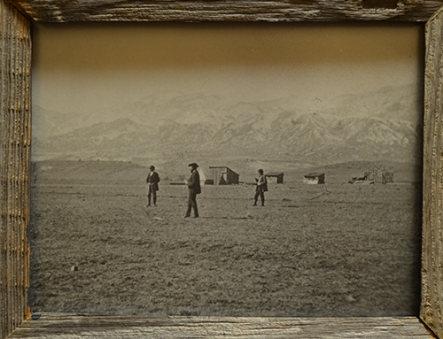 Stewarts Collection General Palmer laying out townsite 1871