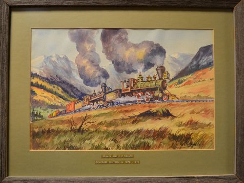 Train Water Color Ken Williams
