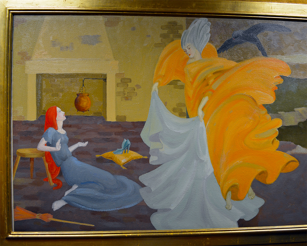 Cinderella painting stepmother