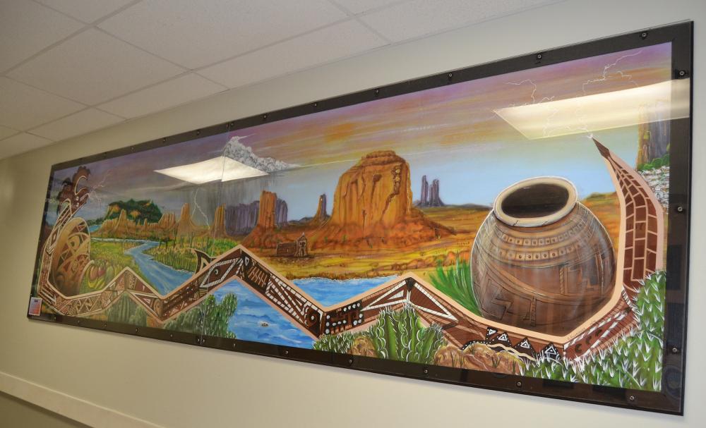 Nuevo Casas Grandes mural from right