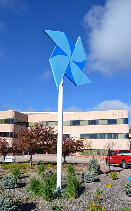Pinwheel at CSC vertical photo