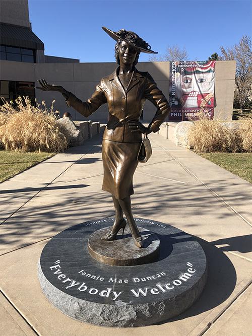 Fannie Mae Duncan statue