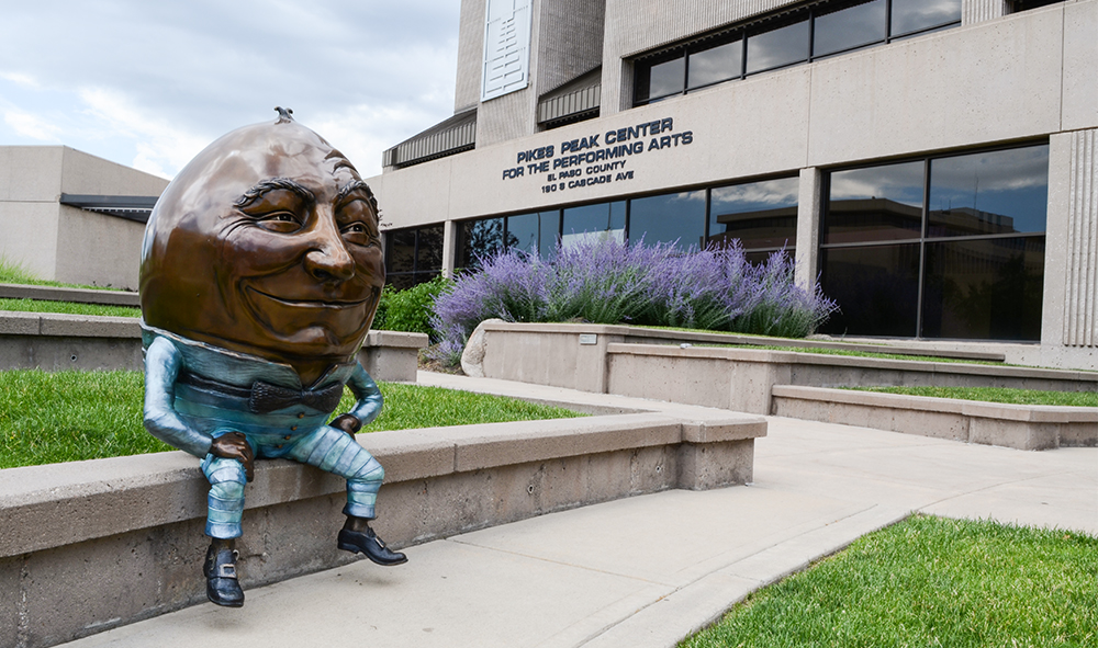 HD Humpty Dumpty in Bronze by Kimber Fiebiger