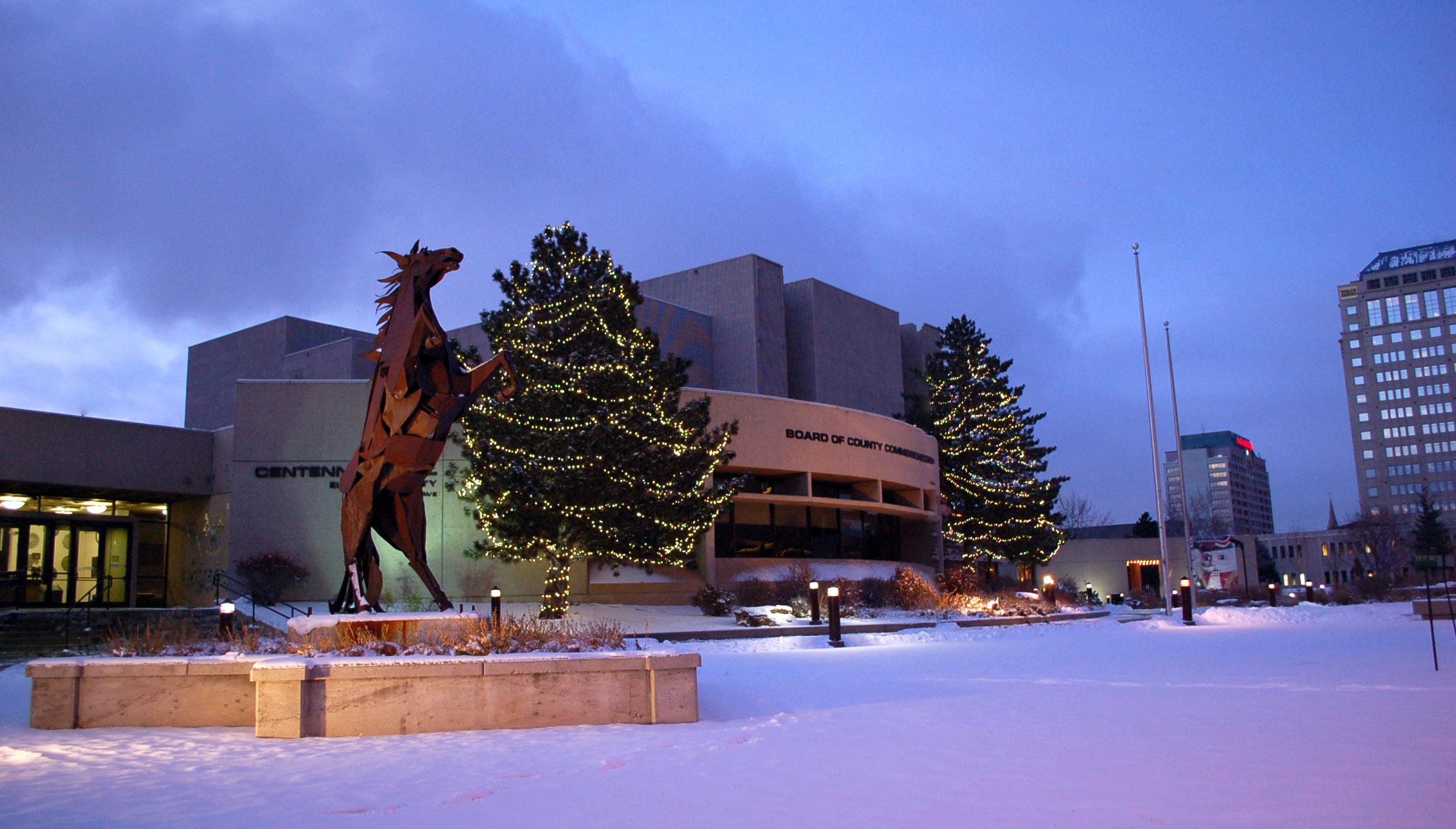 Rearing Horse winter image