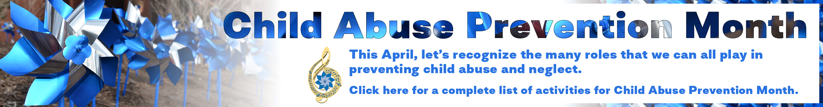 Child Abuse Prevention Banner click for schedule