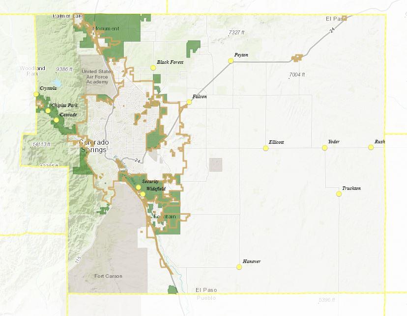 Unicorporated EPC Animal Control Jurisdiction Map
