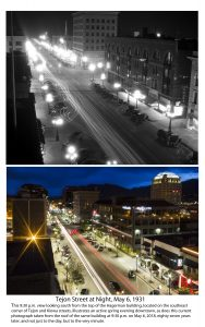 City Works Tejon at Night