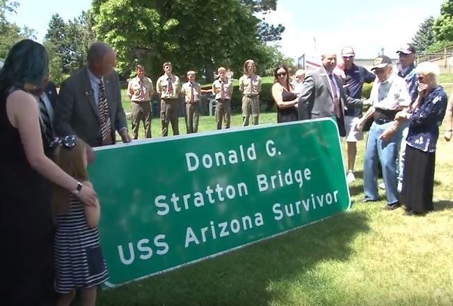 Don Stratton Bridge Sign