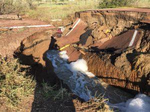 Old Pueblo Road washout July 24