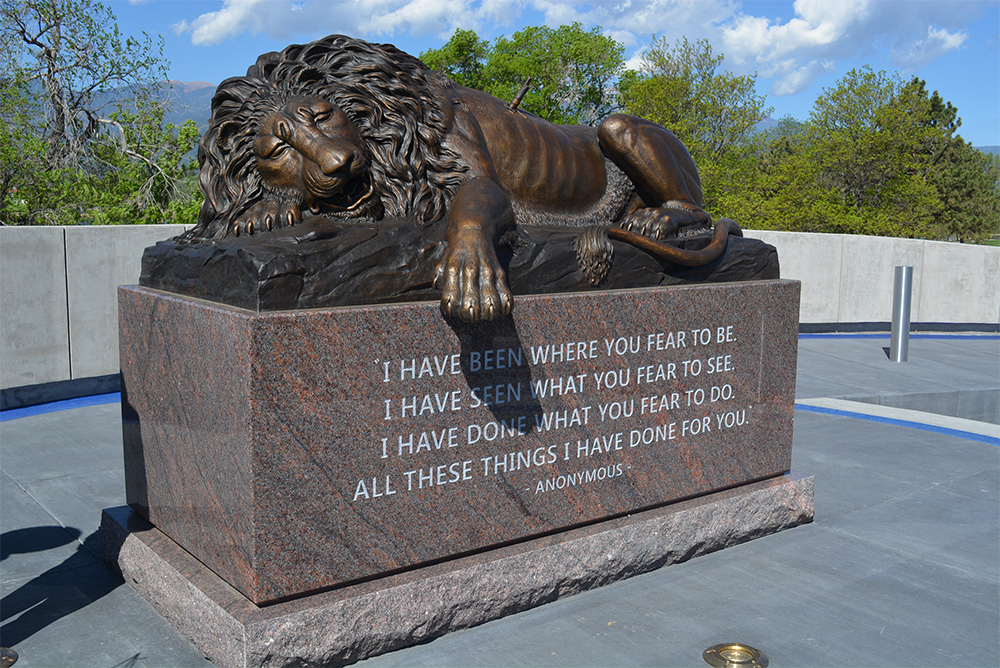 Peace Officers Memorial Lion 1000