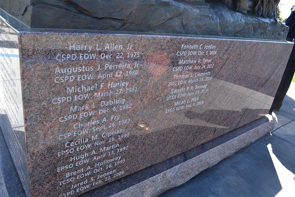 Peace Officers Memorial Names