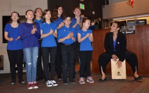 A group of children and musicians with the Colorado Springs Conservatory performed at the April 18, 2019, Board of County Commissioners meeting as part of Child Abuse Prevention Month.