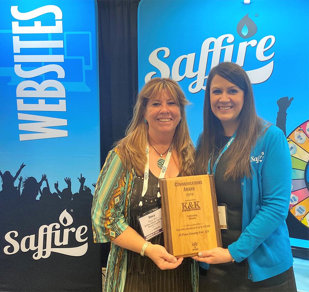 Fair awards IAFE Stacy Starr and Saffire