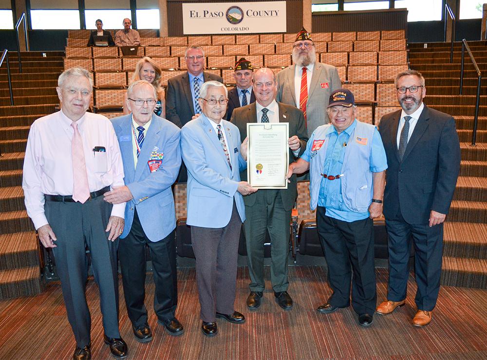 Korean War Proclamation group photo 2019