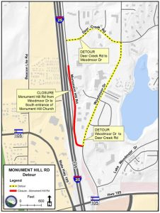Monument Hill Road map