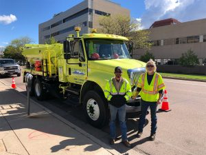 Public Works Pot Hole Repair Truck