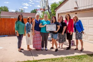 From right, Commissioner Cami Bremer and DHS Executive Director Julie Krow visited Sister Sister daycare in early September 2019. Sister Sister is a Level 5 CCCAP provider, only one of three in El Paso County.