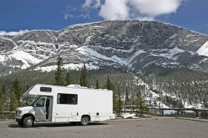 motor home and scenery