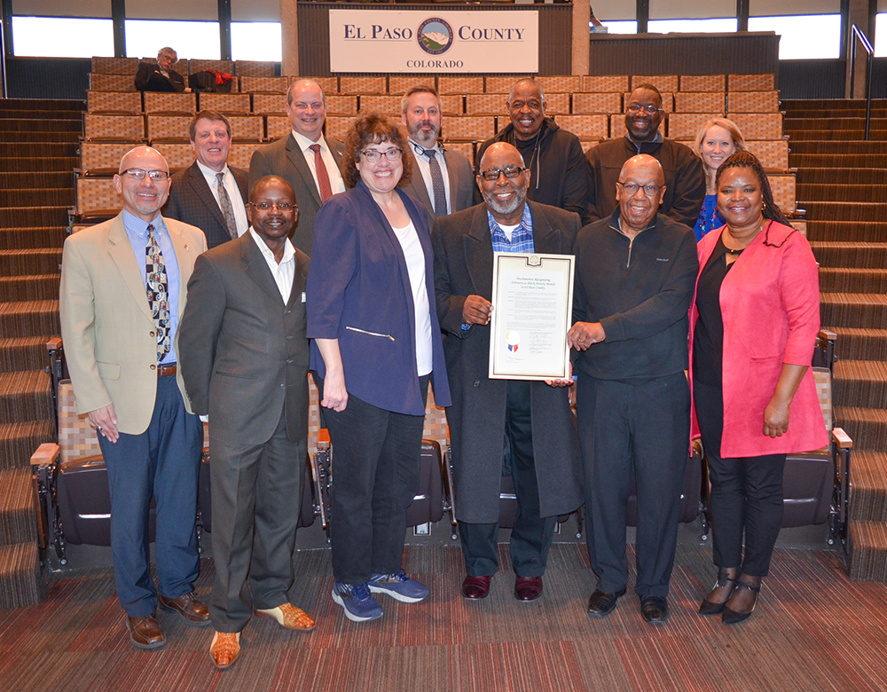 2020 Black History Month Proclamation group photo