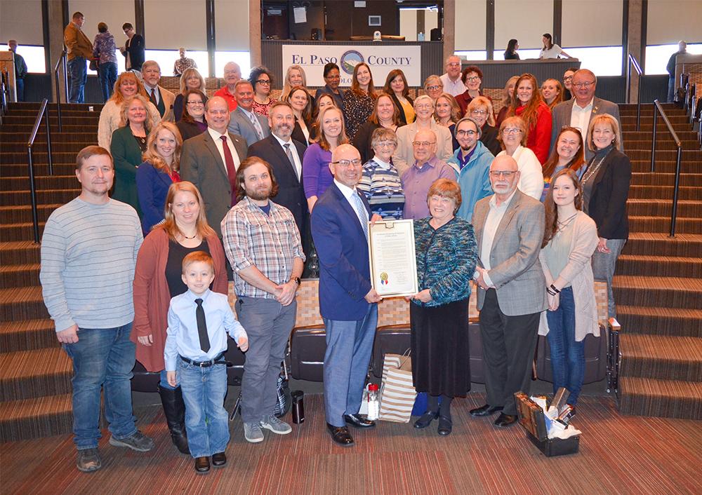 Elaine Johnson Retirement group photo